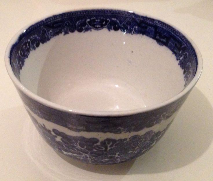 Allertons blue willow sugar bowl