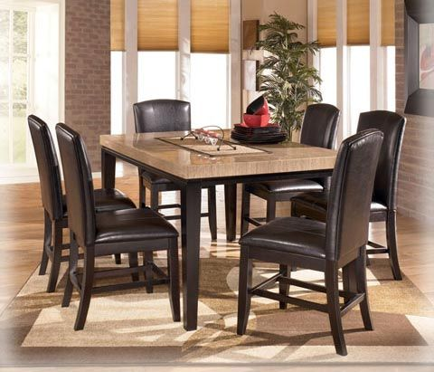 The Naomi Dining Room Collection Combines A Rich Finish With Thick Glossy Table