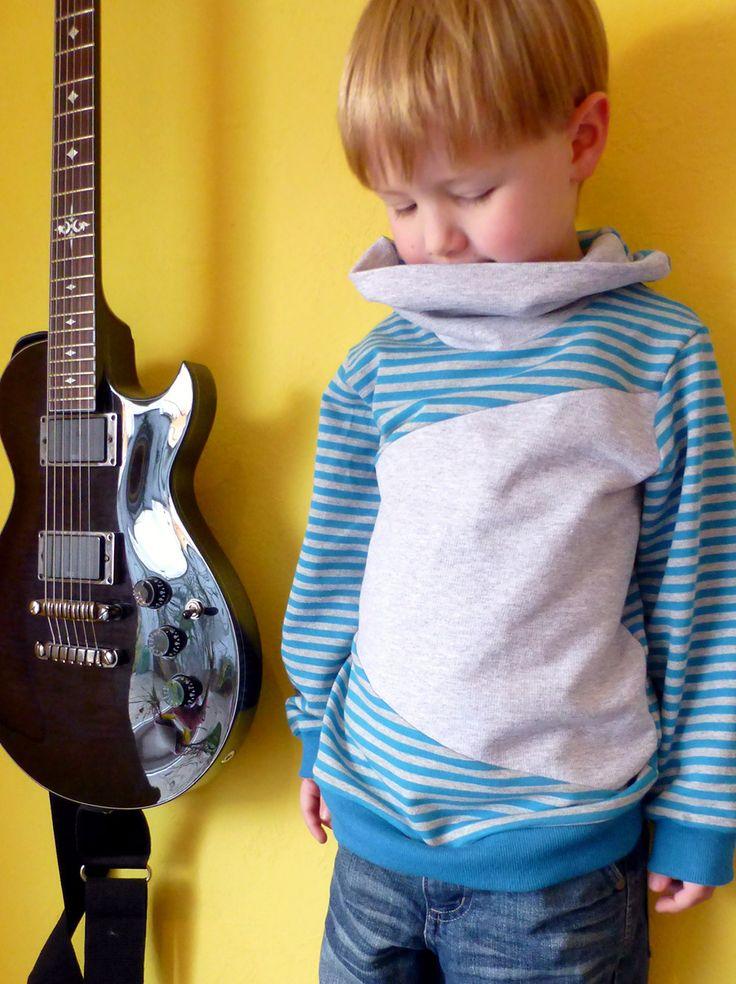 Sweatshirt Schnittmuster für Kinder mit Colorblocking