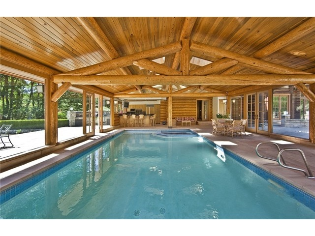 301 best log style homes images on pinterest log cabins for Swimming pool builders near me