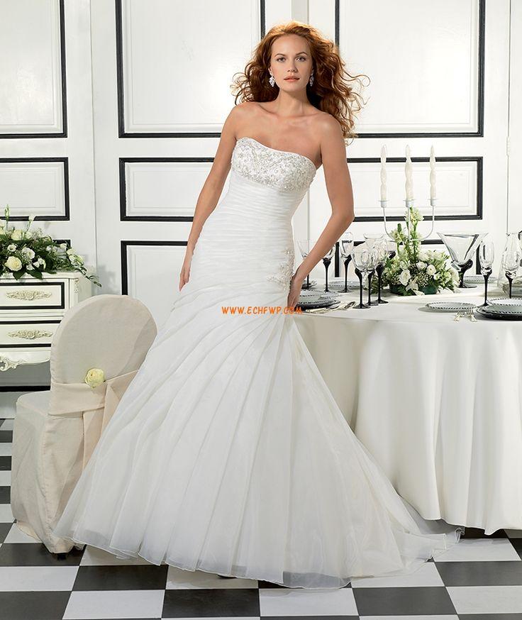 Trapezio Coda a Strascico Corto Glamour Abiti Da Sposa 2014