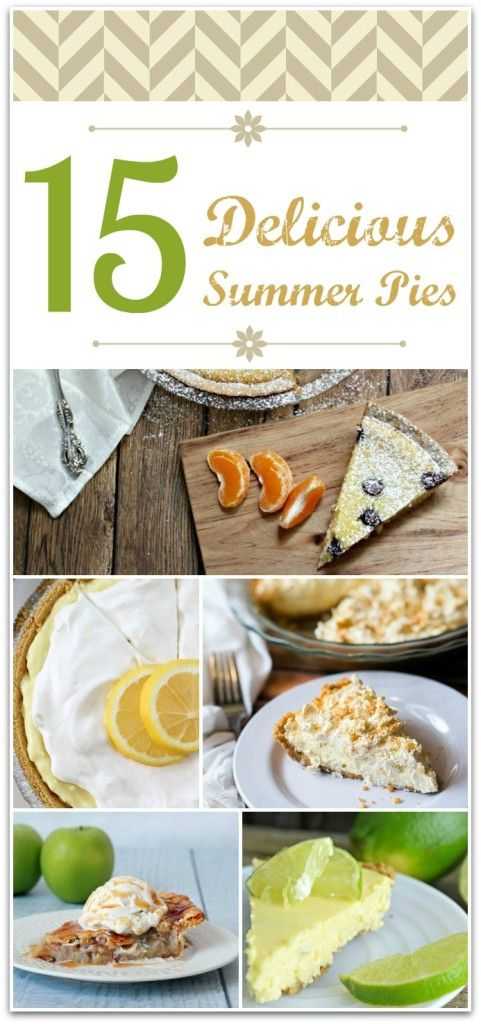Who doesn't love pie? This round up of summer pies has 15 delicious recipes for your summer party! Don't buy a store made pie when you can DIY one of these easy recipes!