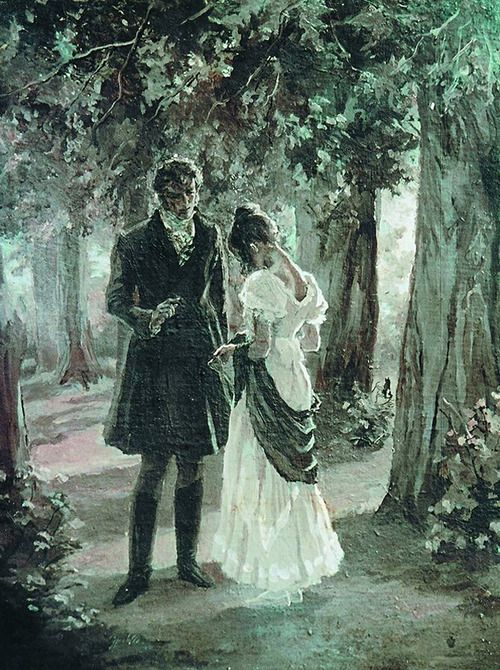 "Eugene Onegin and Tatiana Larina (""Eugene Onegin"" by A.S.Pushkin) ❤❦♪♫"