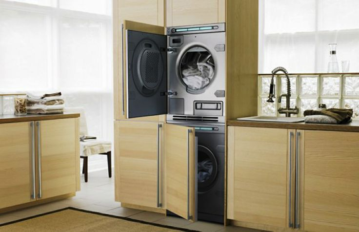 Covers for laundry machines. // Laundry Room Design