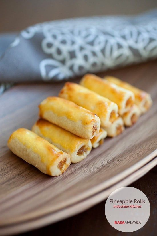 Pineapple Rolls - amazing pastry filled with pineapple jam, a must-have for Lunar New Year in Southeast Asia   rasamalaysia.com