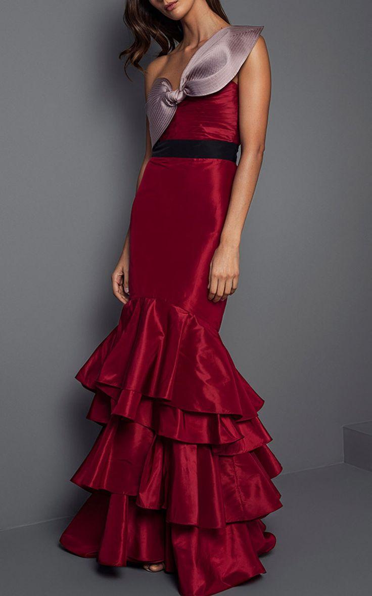 La Viajera Silk Taffeta Dress by JOHANNA ORTIZ for Preorder on Moda Operandi