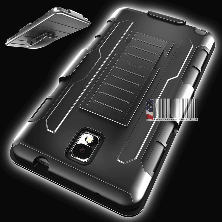 Samsung Galaxy Note 3 Case Cover Protector Future Armor Holster Kickstand Combo  #samsung #samsungmobile