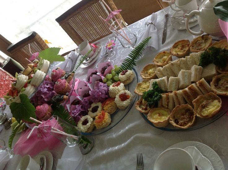 Various high tea offerings @Intaba View