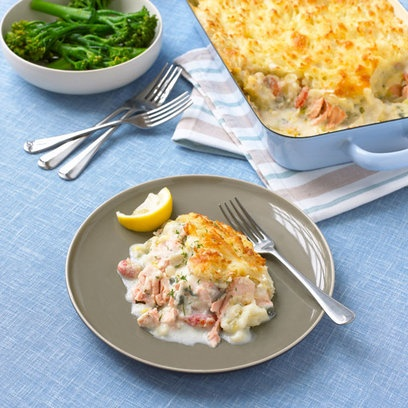 salmon and crayfish pie