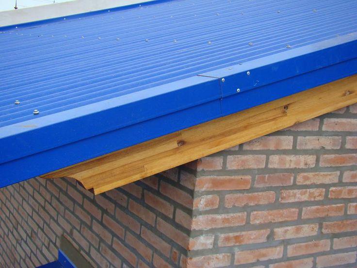 terminaci n lateral de un techo de chapas cenefa buena On cenefas para techos