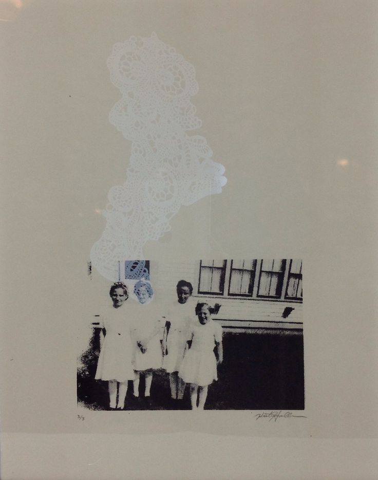 'Untitled' (3 of 3) is a silkscreen by Kristin Hollman