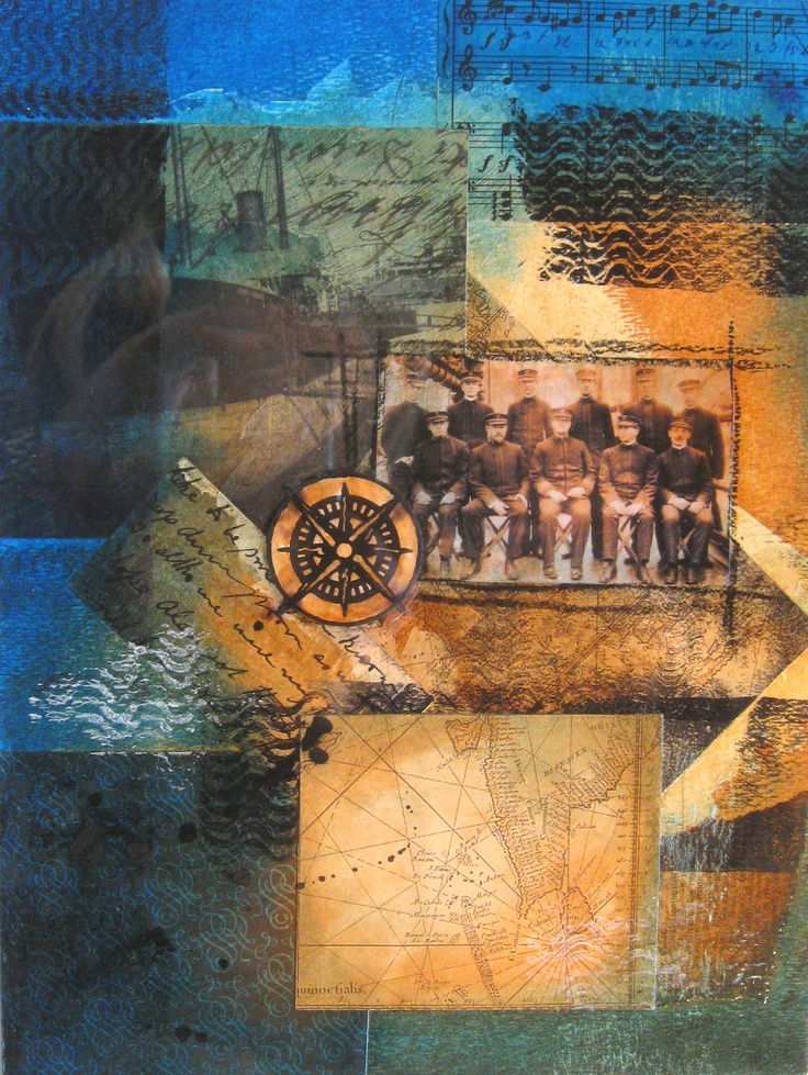 """Bon Voyage"" 11 x14 mixed media by a r marshall"