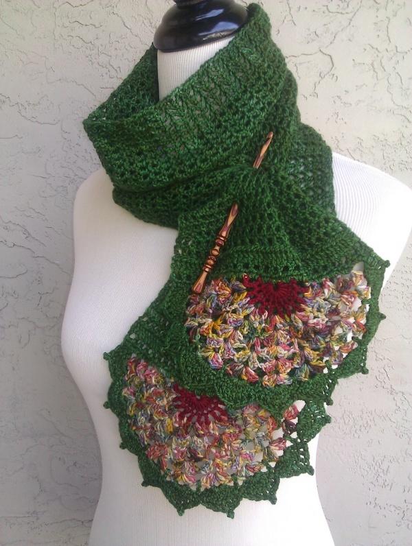 crochet scarf - not free, but good inspiration