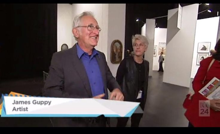 #JamesGuppy was interviewed with collectors Simon + Julie Ford on ABC's The Mix (aired 19 September) while at @sydneycontemporary Catch the segment here http://iview.abc.net.au/programs/mix/NU1596H033S00 starting at the 3:28 minute mark. @james.guppy