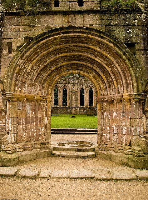 Fountains Abbey Archway by geoff-e, via Flickr