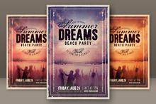 Retro Grunge Party Flyer 2 ~ Flyer Templates on Creative Market
