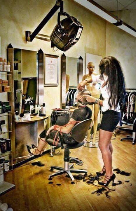 She real sissy shaving
