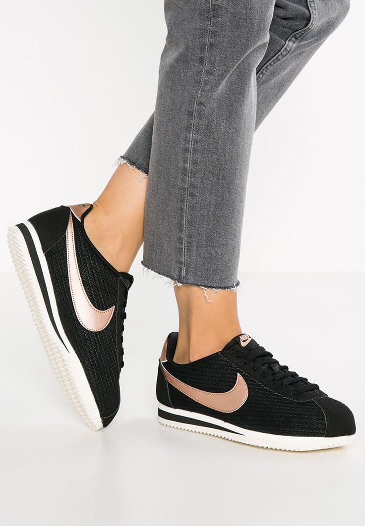 CLASSIC CORTEZ LUX - Baskets basses - black/metallic red bronze/sail - ZALANDO.FR