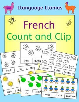 French Count and Clip cards - practice number words