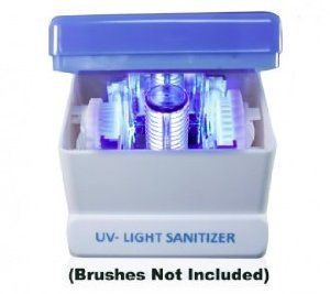 UV-Light Face Brush Sanitizer by VB Beauty. $39.00. Maintain fresh cleanse with a sanitized brush head. Brushes not included. Eliminates 99.9% of bacteria particles. Keeps brush head clean and bacteria free. Works with other brushes including Clarisonic TM , PRO X Olay TM, and most other brands. Millions of germs, bacteria, viruses and other pathogens are growing every day in the warm and moist environment of your face brush attachment. This can pose a serious health ...