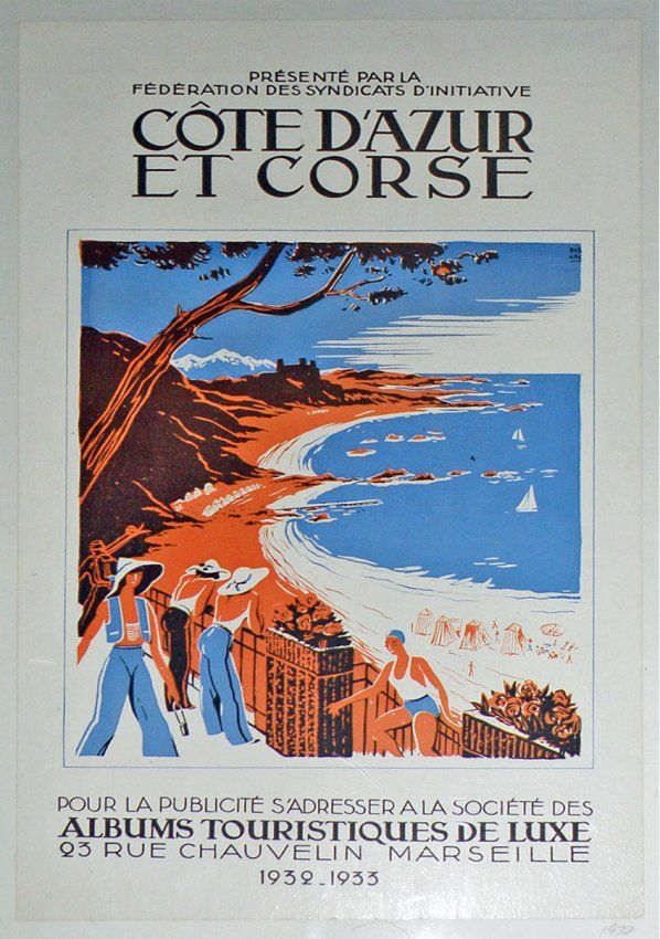 1930s cote d 39 azur travel poster cote d 39 azur pinterest vintage travel and 1930s. Black Bedroom Furniture Sets. Home Design Ideas