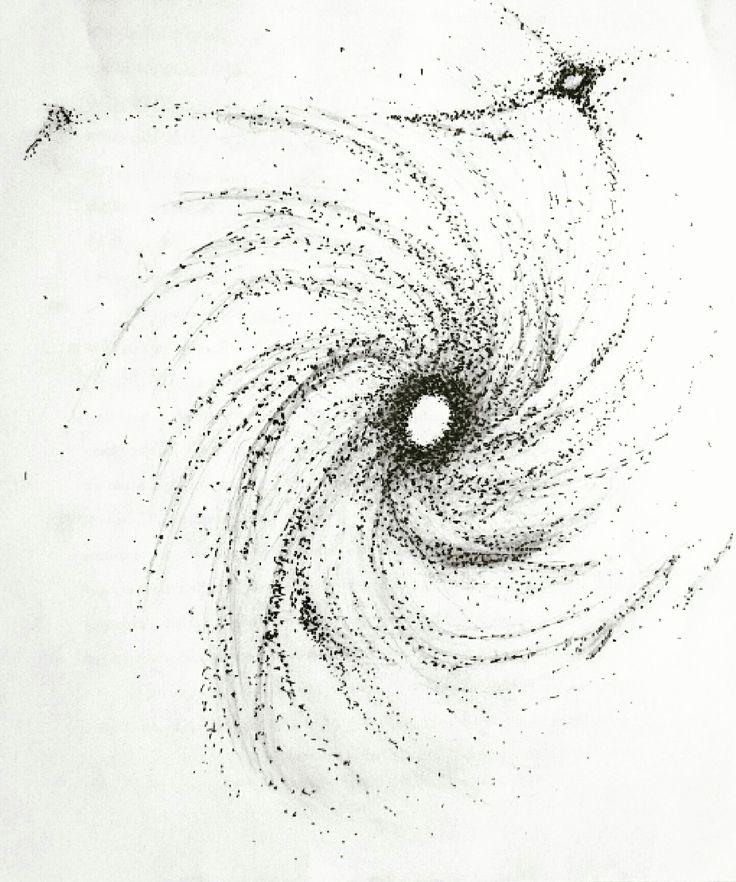 Art sketch space galaxy drawing dotwork tattoo dotworktattoo cosmos sketch black and white design stars star  by Anna Anikienko