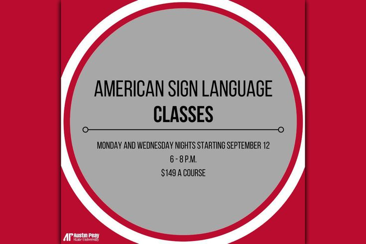 APSU Continuing Education offers American Sign Language