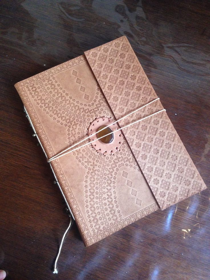 A4/letter size handmade leather journal