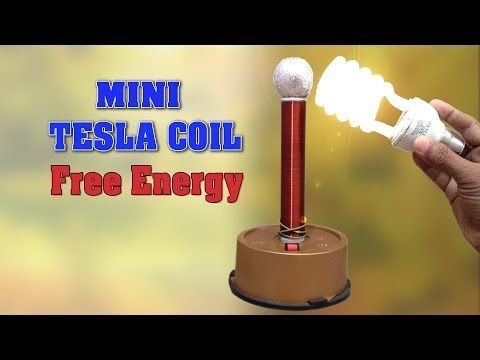 How to make Tesla Coil at home - Wireless Energy Transmission - DIY Homemade Mini Tesla Coil - YouTube