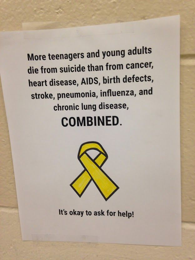 The students in the Peer Leader Organization of one of our high schools are hosting a week-long, school-wide event dedicated to mental health awareness and suicide prevention called Yellow Ribbon W…