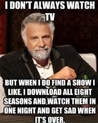 I don't always watch TV, but when I do....TRUE story lol #Netflix #thewalkingdead