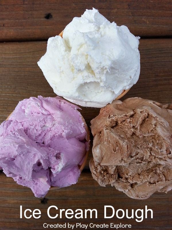 Ice Cream Dough. A totally new sensory play recipe that looks and smells like ice cream and is super soft.