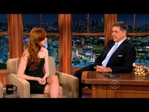 "Karen Gillan on the Late Late Show 2012-11-28 - YouTube  ""I'm gonna get more freckles and then they'll join up and then I'll be completely ginger!"" -Karen Gillan on moving to LA."