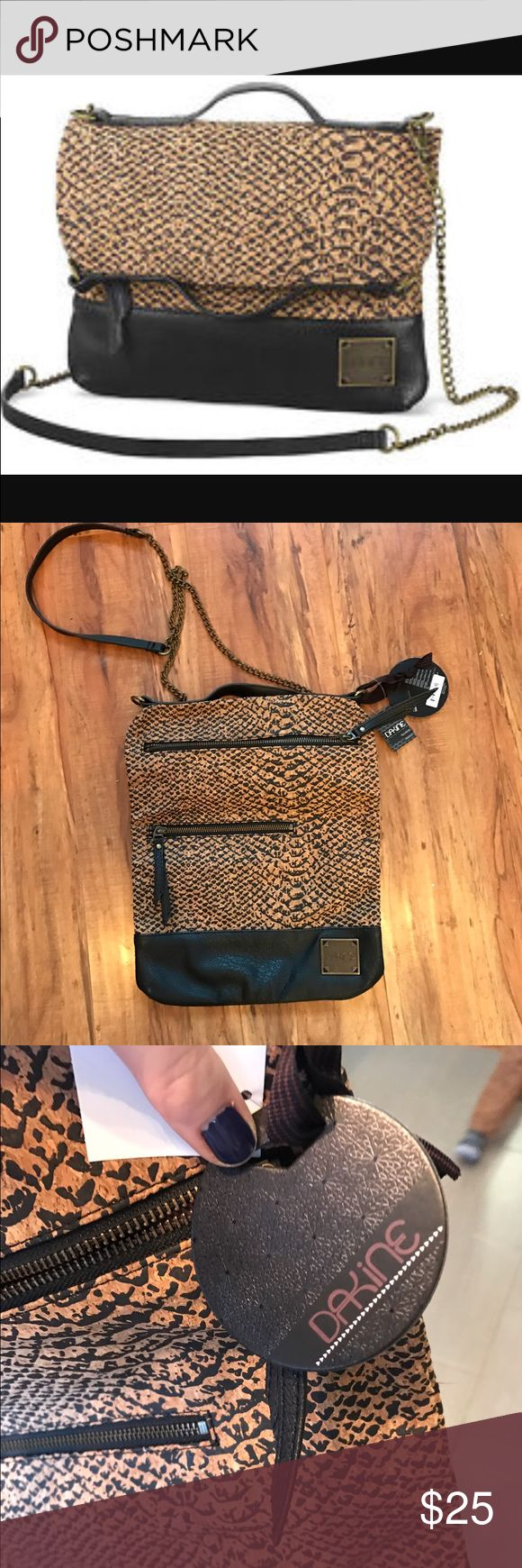 """Dakine Valerie purse Dakine """"Valerie"""" fold over purse with Burton closure. Over the shoulder strap with chain and faux leather. Small strap on the bag to use as hand bag. One large zipper opening and one  small zipper opening. New with tags Dakine Bags Crossbody Bags"""