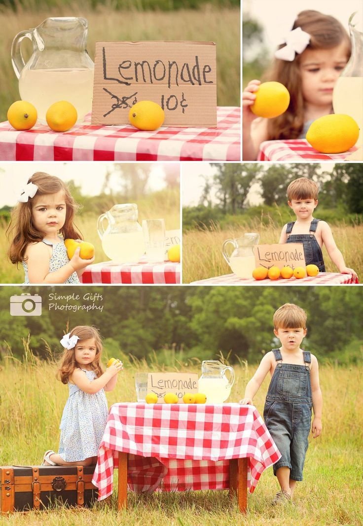 lemonade stand This reminds me of what my friends and I use to do and I would call my mom at work to ask her where the lemonade was an she would be so upset but thought i was so cute at the sametime!