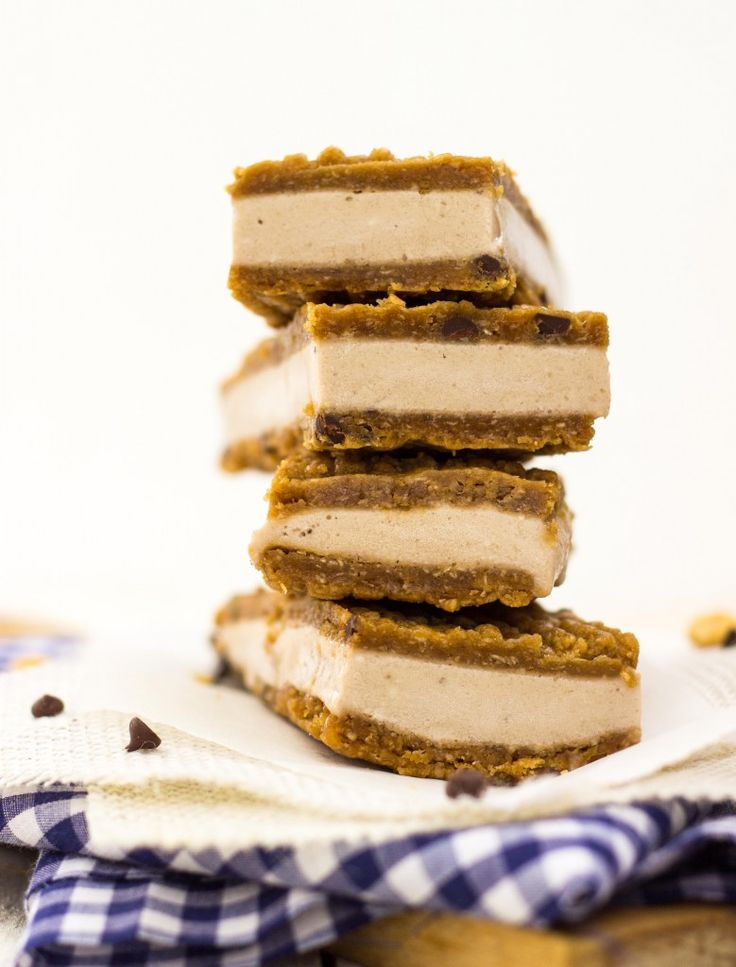 Peanut Butter & Banana Ice Cream Sandwiches {gluten free + vegan} - She Likes Food These sound delicious but very sweet. I would omit some of the sugar in the cookie dough and since bananas are very sweet I would omit the maple syrup in the ice cream too.