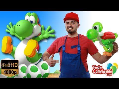 Balloon Yoshi - Palloncino Super Mario - Tutorial 155 - Feste Compleanni - YouTube Yoshi Balloon, how to make Yoshi the little dragon of the game Super Mario Bros with balloon art. Palloncino Yoshi, come realizzare il piccolo draghetto del videogioco Super Mario.