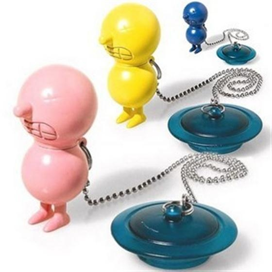 Mr Suicide Bath Plug By Alessi, Mr Suicide Floats In The Water Anchored By  The Plug Available In Blue, Yellow Or Pink