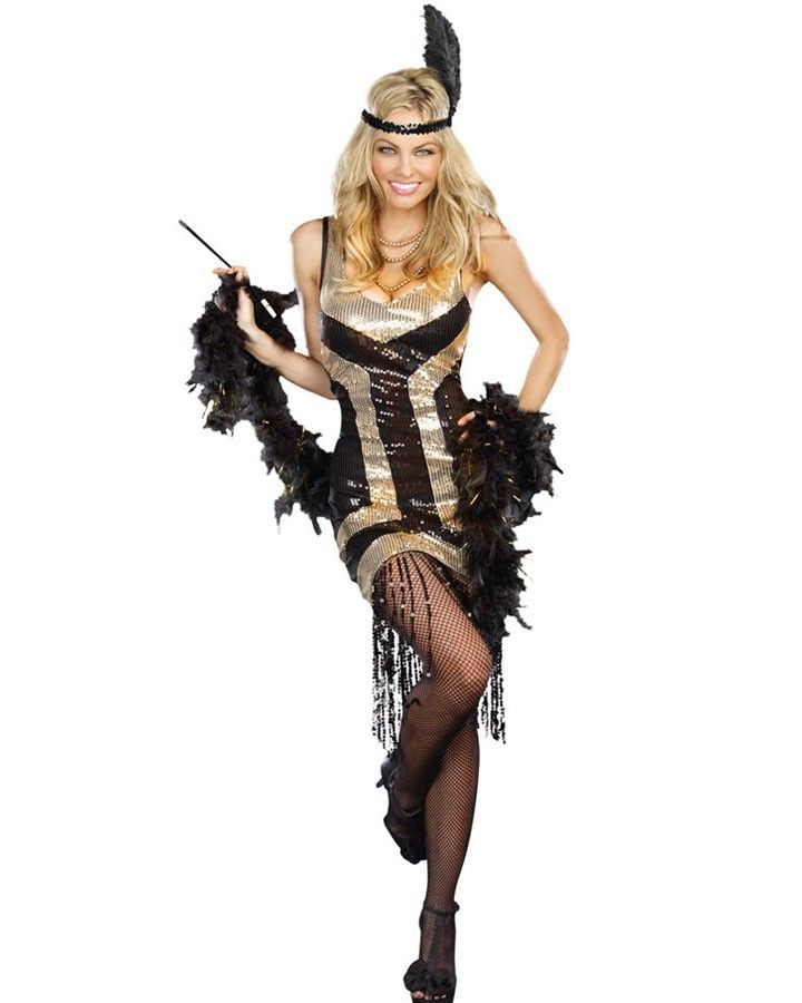 1920s Bootleg Ginny Flapper Womens Costume | Great Gatsby ...