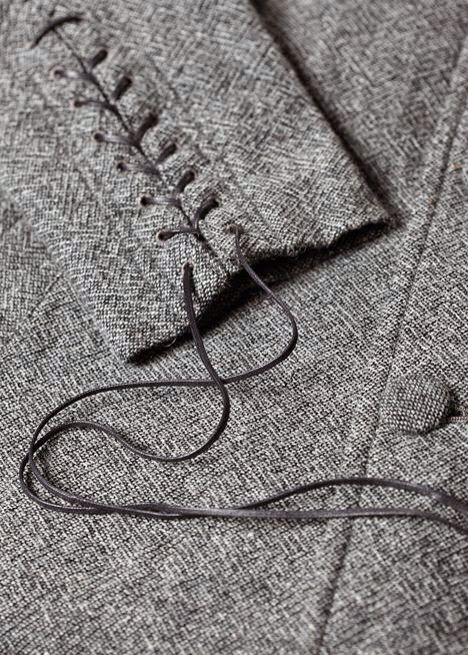 Lacing on cuff of jacket