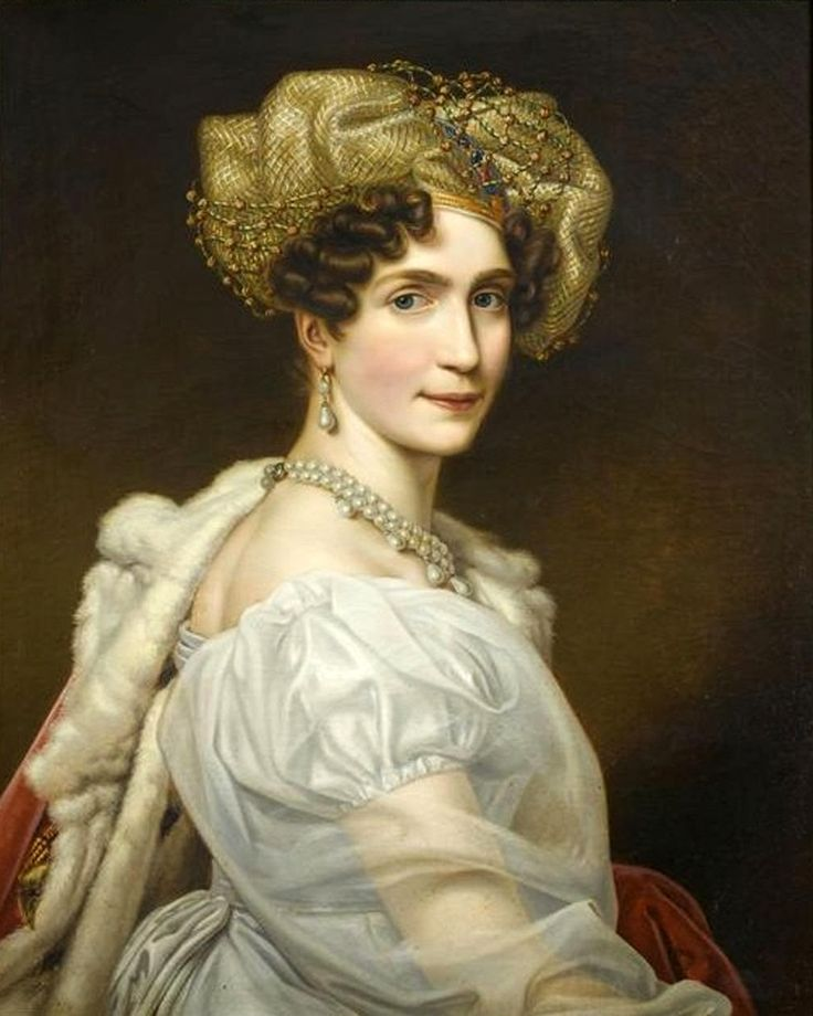 Joseph Karl Stieler (1781-1858) —  Portrait of Princess Augusta of Bavaria, Duchess of Leuchtenberg, c. 1920 : The Château de Malmaison,  Hauts-de-Seine.  France (861×1077)