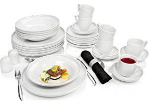 Rosenthal Kombiservice 'Bianchi' aus Porzellan für 6 Personen 30 teilig Tafelservice Essservice   Beinhaltet Teller, Tassen sowie Untertassen   Hochwertige Qualität