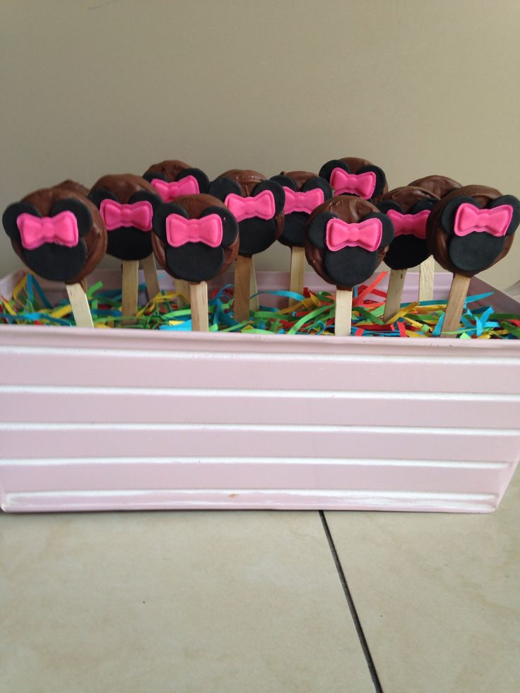 Oreo pops minnie mouse