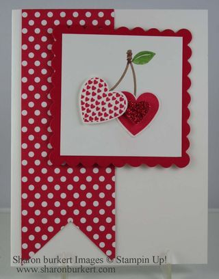 Stampin' Up! Valentine  by Sharon Burkert at As The Ink Dries: Button buddies cherry hearts