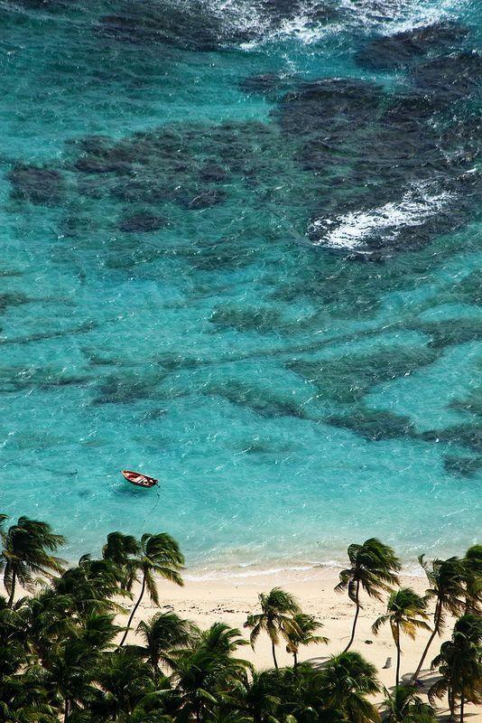 La Désirade Island, Guadeloupe. Souffleur's beach.