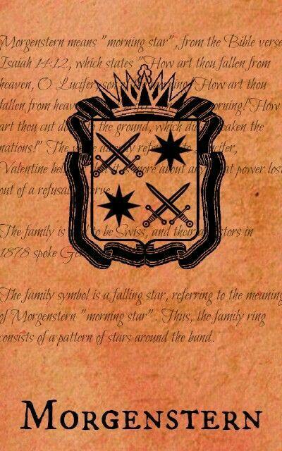 Morgenstern - El Lucero del Alba - Estrella de la Mañana. Escudo Familia Morgenstern.