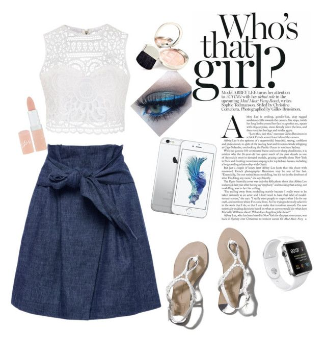 """Who's that girl? : standing on a cute skirt"" by aninditaarr on Polyvore featuring MSGM, Ally Fashion, Abercrombie & Fitch, Rimmel and By Terry"