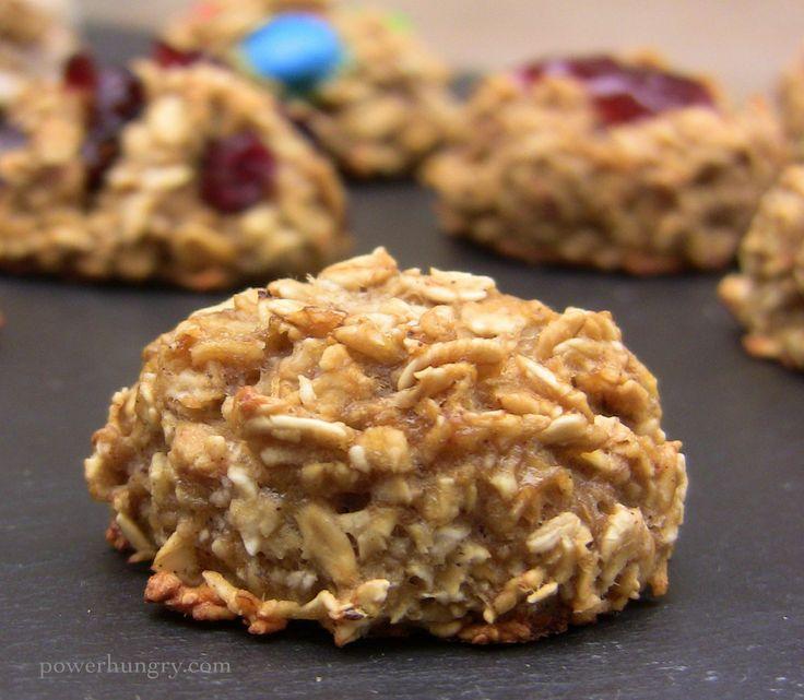 2-Ingredient Oatmeal Cookies {gluten-free, sugar-free, vegan} Adapt for lactation cookies?