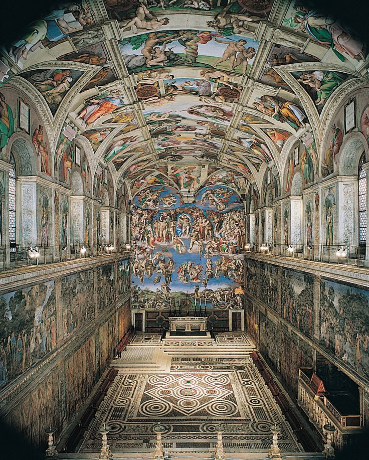 Nov. 1, 1512. Michelangelo's paintings on the ceiling of the Sistine Chapel are exhibited for the first time.