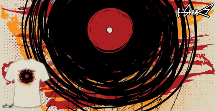 T-shirts - Design: Vinyl Records DJ Music Oldies  - by: Denis Marsili